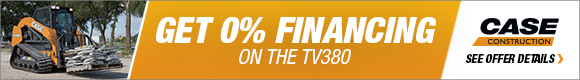 Get 0% Financing on the Case TV380