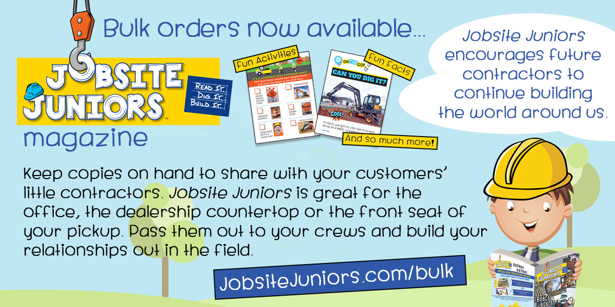 Jobsite Juniors™ | Read It. Dig It. Build It. | Bulk orders now available.