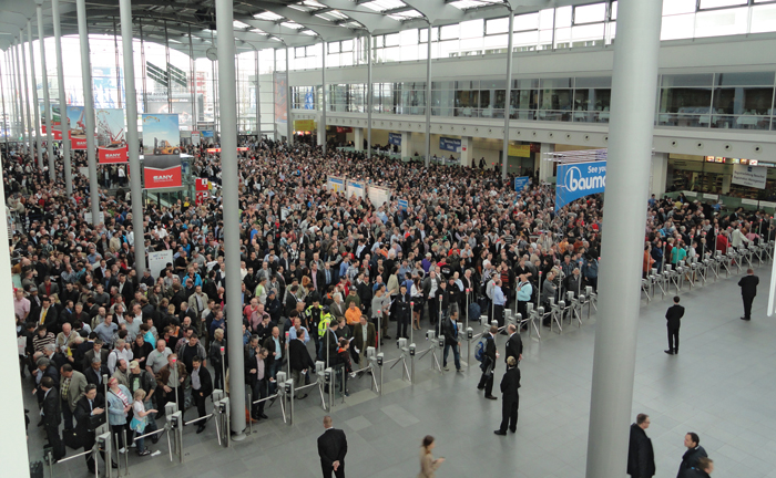 bauma 2013 boasted 3,420exhibitors from 57 countries.