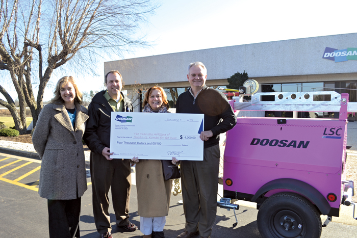 Doosan Portable Power Donates to Susan G. Komen for the Cure