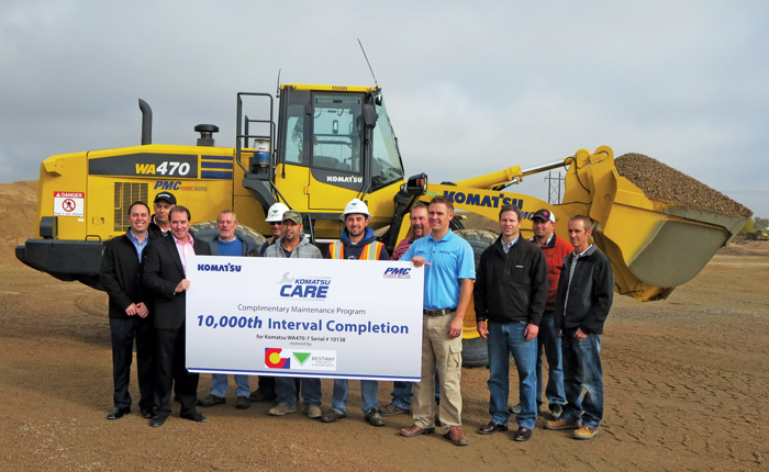 Komatsu America's Komatsu CARE Maintenance Program Reaches Milestone