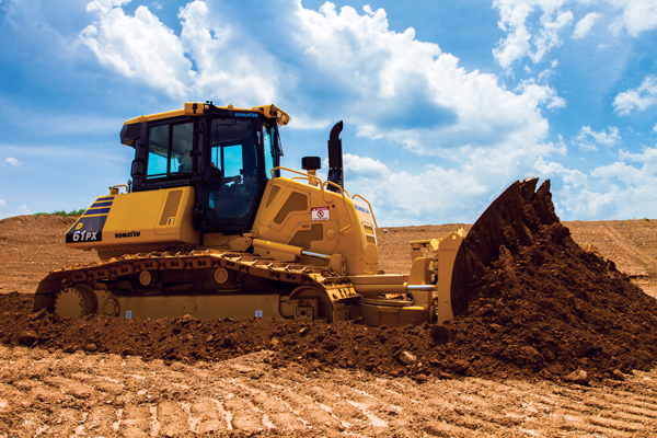 Komatsu America's D61-24 Dozer Features Great Visibility and Less Maintenance