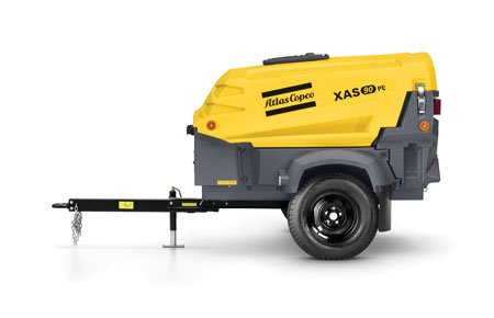 Atlas Copco's XAS90 generates 90 cfm at 100 psi, which is large enough for a single pneumatic tool.