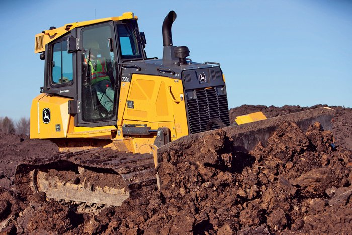 "John Deere recently introduced its 700K ""SmartGrade"" dozer that incorporates Topcon technology."