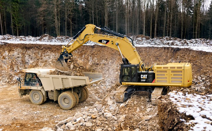 cat-390f-hydraulic-excavator-loading-quarry-truck