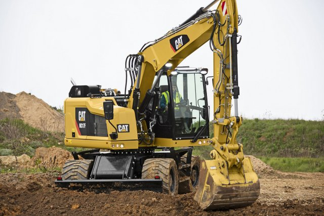 caterpillar wheeled excavator