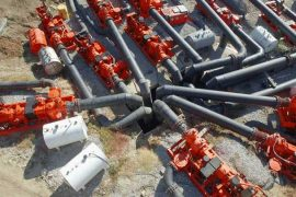Overhead shot of Pumps