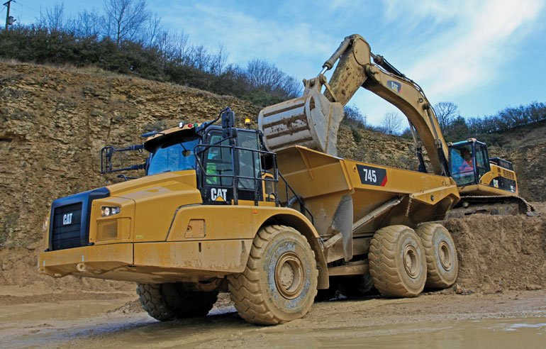 Caterpillar articulated dump truck