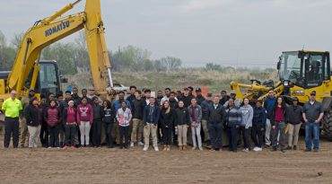 Students at Komatsu Extreme Sandbox