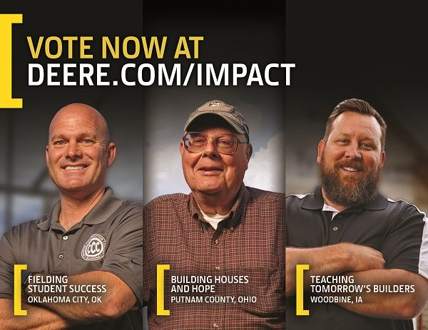John Deere Selects Three Finalists for 'Small Machines. Big Impact.' Contest