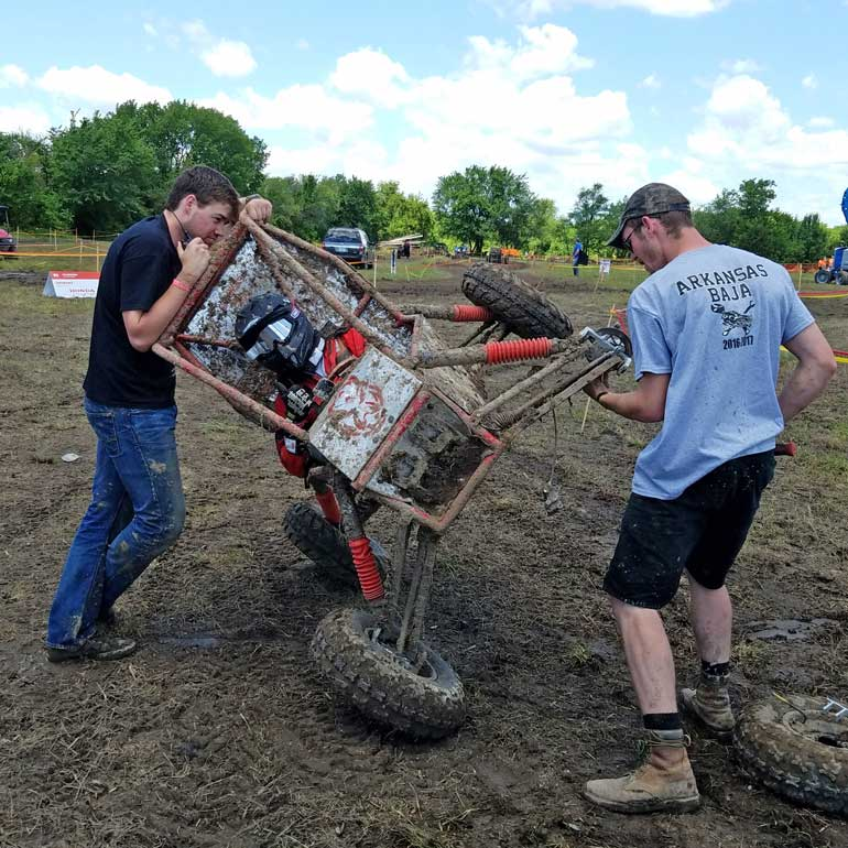 Engineering students build and test their all-terrain vehicle