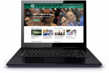 laptop with National Safety Council site