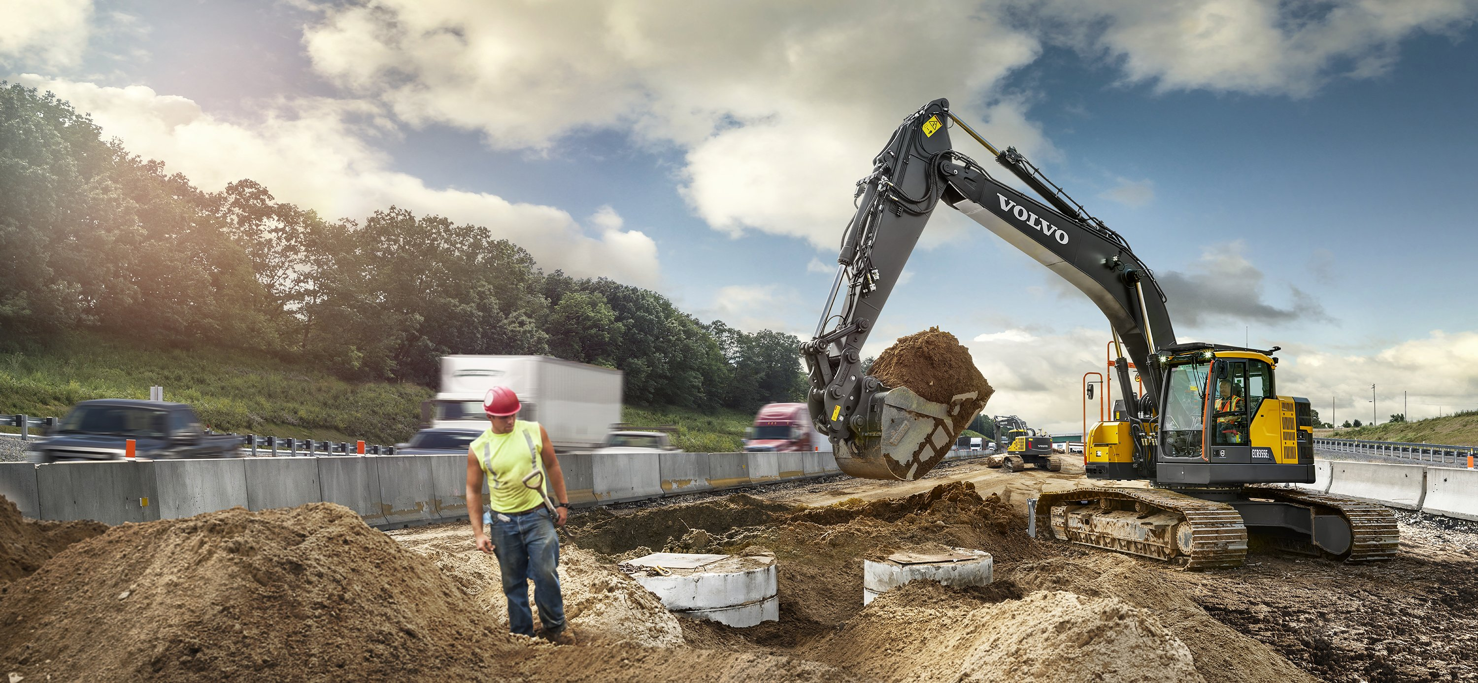 Volvo Adds New Size Class with ECR355E Short Swing Crawler Excavator