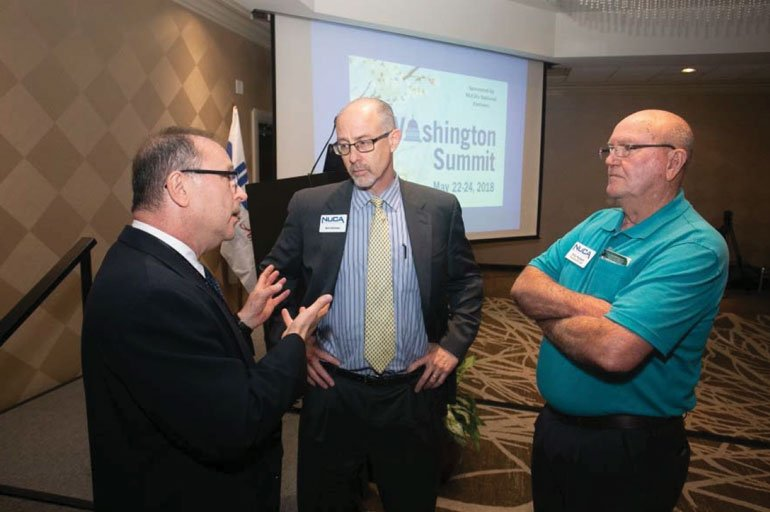 Bill Mahorney with NUCA CEO Bill Hillman and NUCA Vice Chairman Fred Chesney.