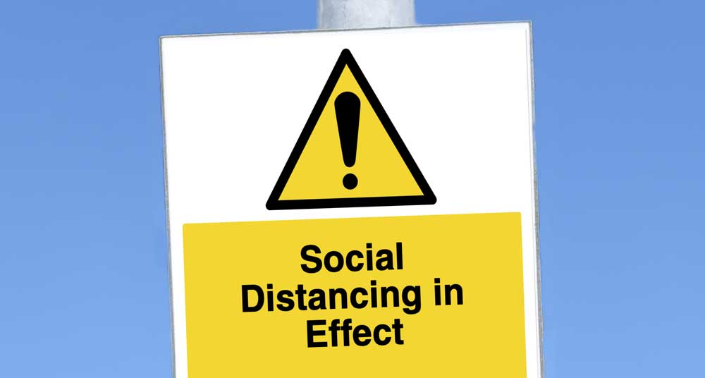 social distancing sign
