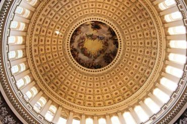 interior of Capitol Building dome