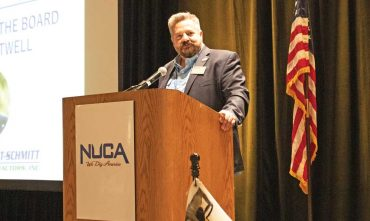 Atwell speaking at the NUCA Convention
